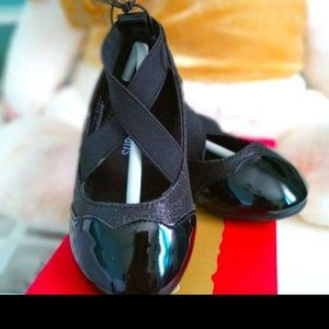 NWT Jelly Beans Black Cross Strap flats, Toddler 5